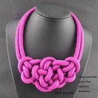 Колье-ошейник Artilady Exclusive desgin lovely pink rope knot statement unique desgin fahion party necklace 5 colors