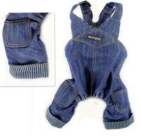домашнее животное одежда, джинсы штаны, комбинезон хлопок Комбинезоны Мужские и женские типы джинсы брюки Одежда для собак