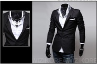 Потребительские товары New Fashion Men suit Slim Fit blazer coat jackets Shirt Stylish Cotton Solid 3 Colors 4 Sizes X17