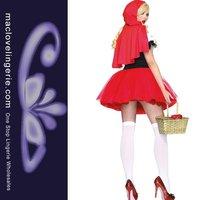 Женский эротический костюм Sexy Racy Red Riding Hood Adult Costume High Quality Sexy Lingerie Halloween Costume
