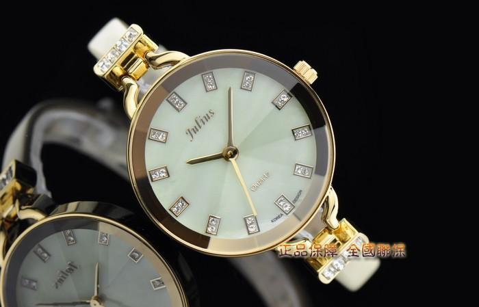 Julius Lady Woman Wrist Watch Quartz Hours Top Fashion Dress Bracelet Band Leather Rhinestone Multicolor Girl Valentine Gift 498