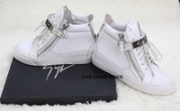 Женские кеды 2013 Women's punk style genuine leather sneakers high-top casual shoes cowhide flat ankle boots Size 34-40