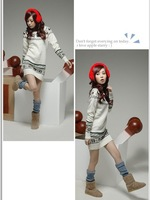 Free Shipping,New Fashion Women's Round neck long embroidered sweater