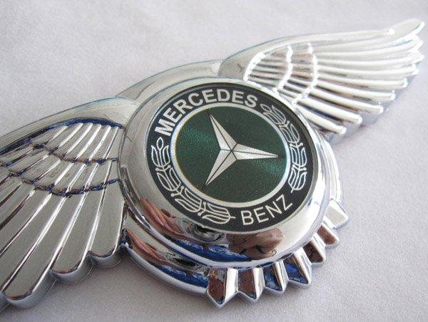 MERCEDES BENZ AMG Badge Emblem 3D Car Logo Wings Sticker Front Hood