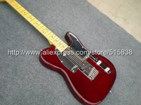 Гитара f Telecater Dark red Electric guitar with white Pickguard in stock