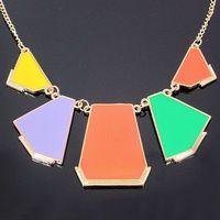 Колье-ошейник Triangle Statement Necklace Collar Chokers Punk Necklace 2pcs/1lot B155