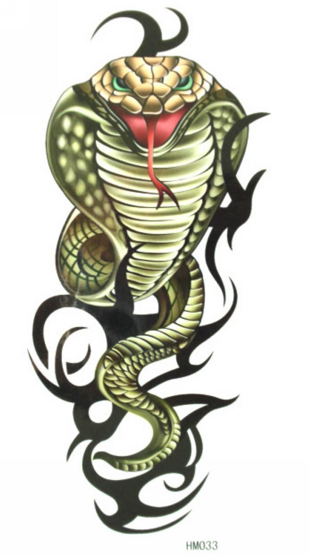 Тату змеи на предплечье для девушек