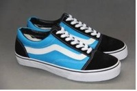 Мужские кроссовки hot sale men's canvas sneaker shoes, size us 4-10, 35-45, color blue/black with white stripe