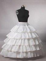 Newest Fabulous White 4-Hoop 5T Ball Gown Petticoat Crinoline Wedding Bridal Crinoline Petticoat Bridal Accessories Hot Sale!!!