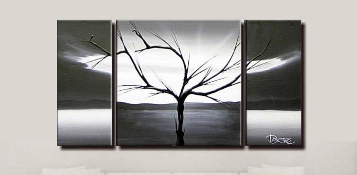 Pinturas de arte abstracto blanco y negro - Imagui