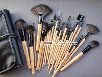 Кисти для макияжа Discount brush 24 pcs/lot Tool Makeup Brush Set Kit Professional Makeup make up Brush Sets + Black Case
