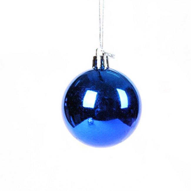 Wholesale 6cm plastic christmas ball ornament craft Xmas tree decoration 6pcs...