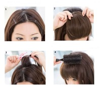 Накладная челка 2011 New Item! Fashion Girl's hair Bang wigs with site hair fringe 7 -Cheap