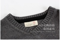 Свитер для мальчиков 2013 kids Spring&Autumn cotton sweater boys o-neck pullovers T-shirts matching outerwear dark gray color FYCS-0015