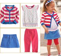 Комплект одежды для девочек 2013 4-pcs cotton baby clothes suit kids clothing set, 5 set/lot