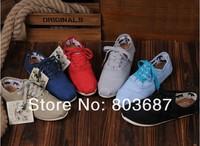 Женская обувь на плоской подошве Unisex Men Women Classic Canvas Shoes, Lace Up Casual Sneakers 6 colors