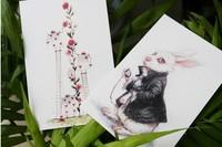 новые 8 набор шт новый Алиса и ее друзья открытки / открытки / Новогодние открытки, поздравительные открытки