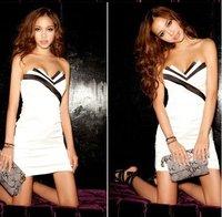 Коктейльное платье SEXY PATCHWORK DRESS WITH BACK ZIP