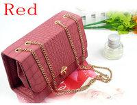 Маленькая сумочка New Luxury Women's Lady's Girls Bags Shoulder Chain Crocodile Messenger PU Leather Handbags, 4 Colors Available