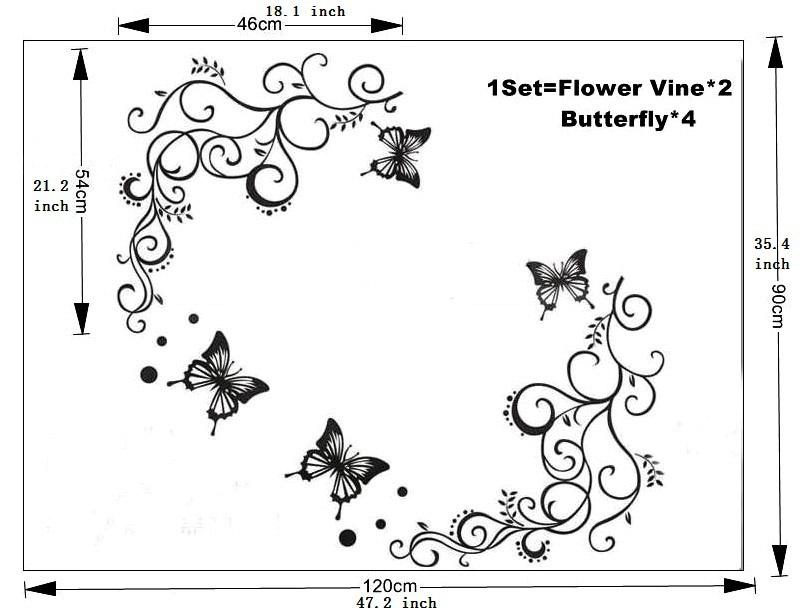 Mariposas para decorar paredes imagui - Mariposas para pared ...