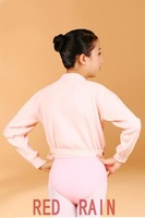 одежда для балета Child ballet crossover top, long sleeve, twist front coat, dance coat, dance wear.girls practicing dance clothing