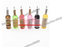 Стразы для мобильных телефонов cute resin cabochons mini simulation wine bottle for DIY ornament 20pcs/lot