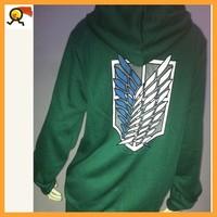 Аниме атака на титана косплей балахон Скаутинге легион капюшоном свитер зеленый