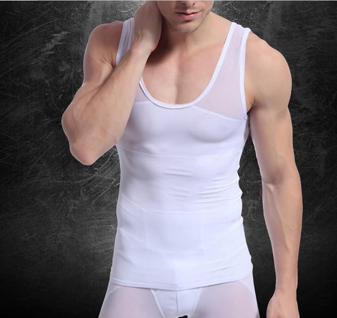 2013 новый дизайн мужская сексуальное тело формирователь жилет коррекции осанки похудения топы бесплатная доставка