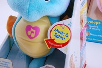 Детское электронное домашнее животное Fisher_price Fisher price Baby Music Flashing Soothe and Glow Seahorse plush toy doll Blue Color