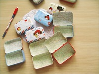 Free Shipping Hot Sale fashion gift cute Pura girl small storage tin case holder Wholesale and Retail Discount 10pcs/lot