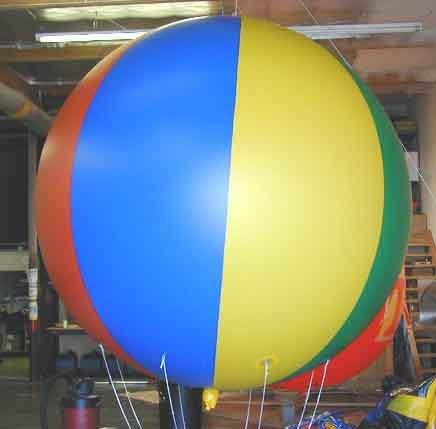Большой шар с гирляндами из шаров (диаметр 2 метра) цена: 17 600* руб