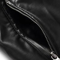 Casual Mens TOP PU Leather Zip Jacket Coat Black Brown Size M-XXL Fur Clothing  5PCS Wholesale