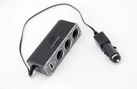 Прикуриватель в авто 3 Socket DC 12V 24V + USB /pad/gps/dv/dvr