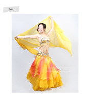 Женская одежда C91826 Women's Dancing Flouncing Multi-Color Stretch Chiffion Beads Belly Dance