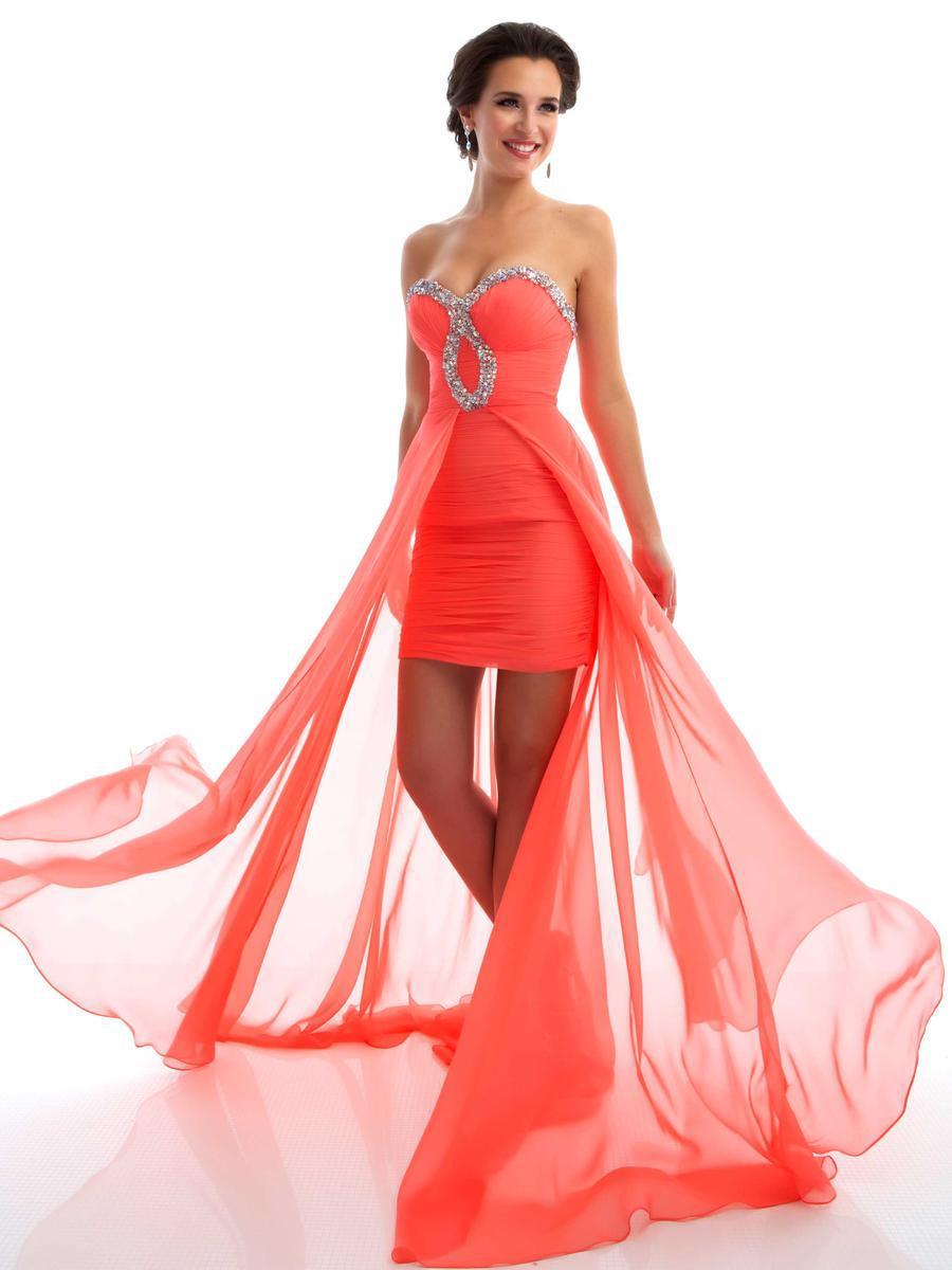 Короткие и длинные вечерние платья