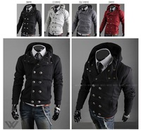 Мужская ветровка Popular new fashionable men's hooded fleece, zipper design, autumn and winter essential men's coat Hot jacket Baseball uniform