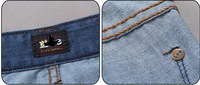 free shipping 2013 new brand  man slim fashion  short jeans for straight mid zipper fly