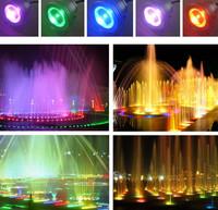 10W rgb привели подводный свет водонепроницаемый ip68 фонтан бассейн лампа 16 красочных изменения с удаленного lemonbest 24key ir