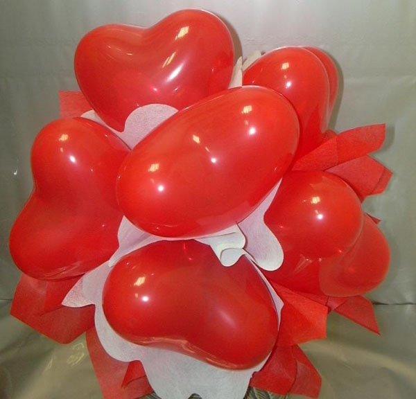corazón con globos CURSO DECORACION
