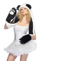 Tidal wave of men women must take fur hat warm hat animal hat panda paw