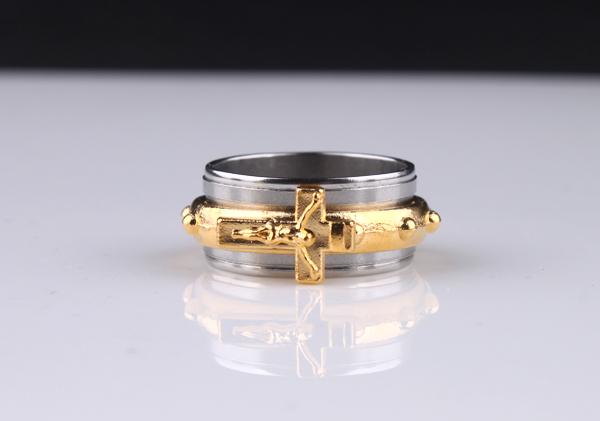 s558 十字架圣经戒指 男士戒指 时尚男生男款钛钢戒子指环潮人
