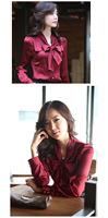 Женские блузки и Рубашки bowtie OL ShirtsTops 3