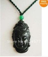 Ювелирная подвеска carve black Jade Buddha Pendant 3 pc Lot