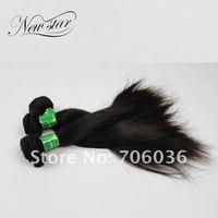 новые волны света девственной прямо 100% человеческие волосы утка лучшее качество и 10-26' естественный цвет 95 г/шт 3шт/лот