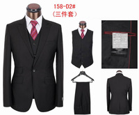 2013 new brand high-grade cultivate one's morality single grain button man Italian suit three-piece suit