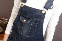 Женские джинсы New large size XXXL Women's Overalls Jeans Gallus/high waist Ladies' Denim Jumpsuits Rompers/Female suspender/big pants trouser