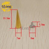 Клепки для одежды GLong 1000 7 * 24,5 Screwback /nailheads DIY /#Gz025/39.5 G + B5S GZ025-24.5G+B5S