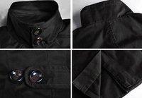 Men's stand-up collar coat A555