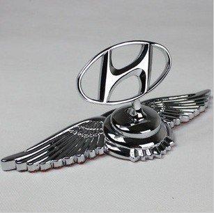 Zinc Alloy Metal Car Auto Front Emblems Hood Bonnet Starex i30 ix35 ...