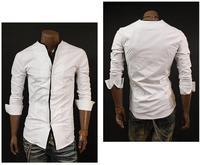 Мужская повседневная рубашка slim fit m l XL C05